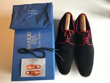 Barker Rebus Black Red Mens Suede Shoes size UK 10.5 (boxed)