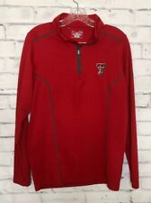 UA UNDER ARMOUR TEXAS TECH Red Raiders 1/4 Zip Up Pullover Sweatshirt Size S