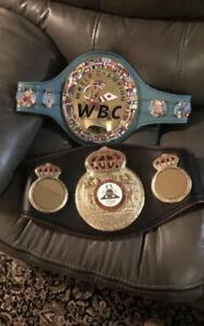 Wbc And Wba Championship Boxing Belt Set  Usa Seller  Wbc Wba
