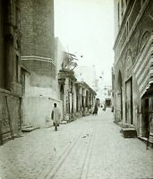 TUNISIE Tunis une Rue, Photo Stereo Vintage Plaque Verre VR4L3n7