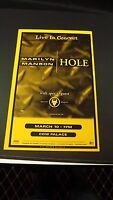 Genuine 1999 MARILYN MANSON & HOLE Live In Concert Poster Cow Palace Flyer Ad