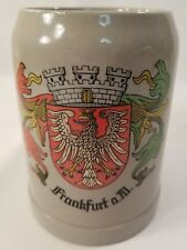 German Beer Stoneware Stein .5L Frankfurt a.M. Germany Mug Bar Vintage