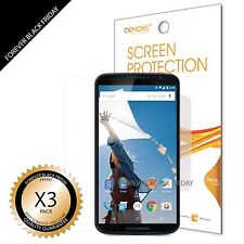 Google Nexus 6 Screen Protector 3x Anti-Scratch HD Clear Cover Guard
