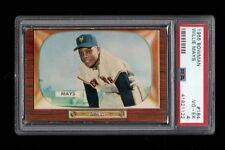 "1955 Bowman BB Card #184 Willie ""The Say Hey Kid"" Mays NY Giants PSA VG-EX 4 !!!"