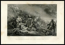 Battle Bunkers Hill American Revelotion 1855 U.S. History steel engraved print