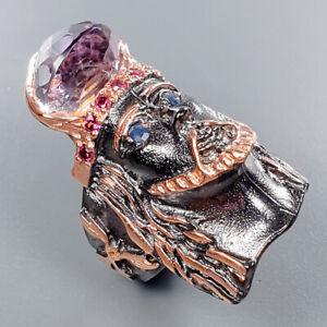 Quartz Ring Silver 925 Sterling Fashion Handmade Size 6.75 /R133821