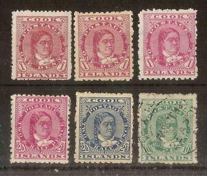 Cook Islands 1893-1919 Queen Makea Takau (6v)