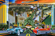 """""""ART OF LAS VEGAS"""". A limited edition giclee on canvas by David Chapple ."""