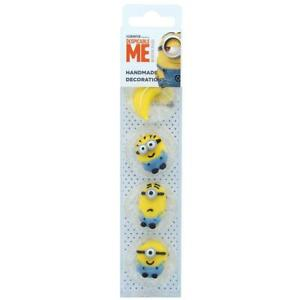 Minions Sugar Decorations Edible Cake Toppers 8 Pack