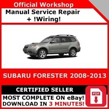 # FACTORY WORKSHOP SERVICE REPAIR MANUAL SUBARU FORESTER 2008-2013 +WIRING