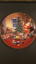 The Hamilton Collection A Christmas Eve Visitor Plate