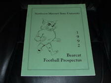 1992 NORTHWEST MISSOURI STATE SPRING COLLEGE FOOTBALL MEDIA GUIDE EX-MINT BOX 40