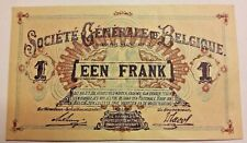 1 Franc, 1917, KM #86b, 1 Frank 1916-1920 Belgïe Belgique Belgium