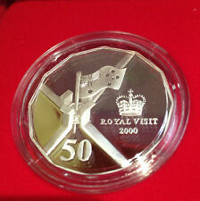2000 Australia Royal Visit 50cent Silver Proof, RAM - Damaged Box