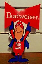 "Bud Man ""Bowtie Sign"" Budweiser Beer Ad Promo Sticker 9""x 6"" 1970's New Nos"