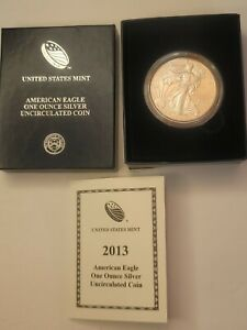 2013 United States Mint American Eagle One Ounce Silver Proof  Dollar W/ COA
