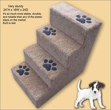 Sturdy Dog Steps, 24'H with paw prints. Pet Furniture, Dog stairs, Tall dog step