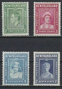 NEWFOUNDLAND 1938 SG268-71 ROYAL FAMILY  -  MNH