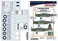 1/48 Decals Vultee 'Vengeance of Nadzab' - 24 Squadron in New Guinea DEKL's II