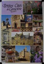Affiche BRETAGNE Petites Cités de Caractère - Tourisme