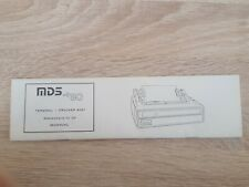 MDS 80 Terminal Drucker 8087 Referenzkarte für die Bedienung