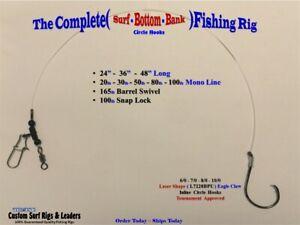 5 .. Complete Circle ( Surf - Bottom - Bank ) Fishing Rigs Striper Drum Catfish
