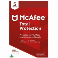 McAfee Total Protection 2018 5 PC 1 Year Global Key For Windows, Mac Android iOS