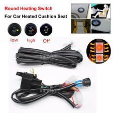 Universal Round Car Seat Cushion Heating Switch High/Low Switch w Wiring Harness