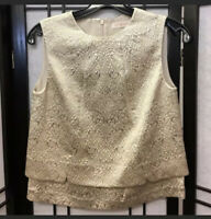 Tory Burch Tapestry High Neck Crop Top Blouse With Zipper Size 0