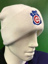 WH289 MLB Chicago Cubs Woolly Beanie Hat White OSFA
