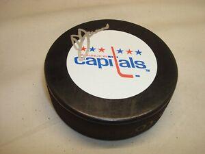 Doug Jarvis Signed Washington Capitals Hockey Puck Autographed 1A