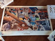 Vintage 1992 Baseball Print Nabisco America's Favorites Then/Now Autographed?
