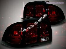 1994-1998 Ford Mustang Dark Red Tail Lights Black Trim 1995 1996 1997