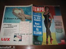 RIVISTA TEMPO 1956/42=GINA LOLLOBRIGIDA=PAOLA PATERNOSTER=GENEVIEVE PAGE=