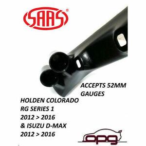 SAAS Gauge Pillar Pod for Holden Colorado RG Series 1 52mm Gauges