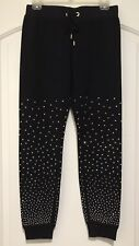 Bebe Pants Stretch Sport Gym Black Gold S NWOT