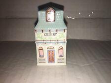 1989 The Lenox Spice Village Victorian House Jar Fine Porcelain ~ Celery