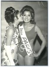 Catherine Séjour et Lillio, miss Paris et miss France 68 Vintage silver print