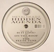 HIDDEN AGENDA - Is It Love - Vinyl Metalheadz  Drum And Bass. Repress