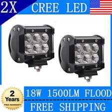 2x4in 18W CREE LED LIGHT BAR WORK FLOOD LAMP OFFROAD BOAT UTE CAR TRUCK SUV ATV