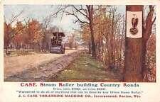 Racine Wisconsin Steam Roller Road Construction Antique Postcard J67562