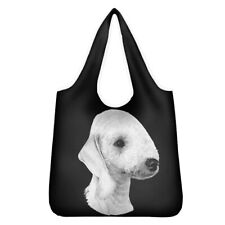 More details for bedlington terrier shopping bag reusable foldable washable lovely gift idea