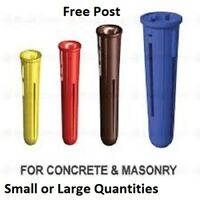 Heavy Rawlplugs Wall Plug 12mm x 60mm Anti Spin Fins Masonry Concrete 3