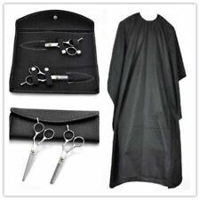 """Set di forbici professionali per parrucchiere da 6 """"+ mantello per capelli nero"""