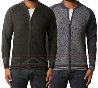 Mens Zip Through Cardigan Tokyo Laundry Pitcher Wool Mix Casual Sweater Knitwear