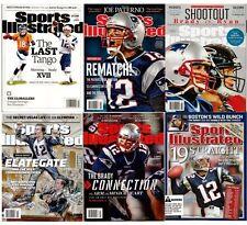 NEW Lot 6 Sports Illustrated New England Patriots Tom Brady No Label 2004 2016