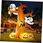 8 FT Halloween Inflatable Decorations Spooky Tree with Ghost and Pumpkins,