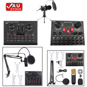 Multifunctional Live Streaming Sound Card Audio Interface Mixer Bluetooth C9S8