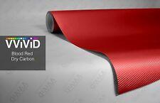 """10ft x 60"""" 3D red carbon fiber vinyl car wrap sheet roll film sticker decal"""