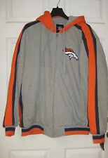 NFL Denver Broncos Thick Hooded Jacket, Size XXL, New w/Tags